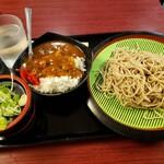蓼科 - 蕎麦とミニカレーセット
