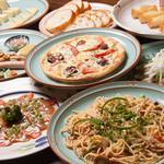 浪漫風 - 料理7品、飲み放題付き、3600円コース。