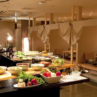 個室や堀りこたつなど、ゆっくりできる空間は大人気