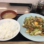 ランチハウス ミトヤ - 肉と野菜のタレ焼き定食
