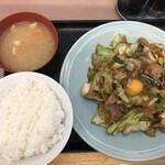ランチハウス ミトヤ - 肉と野菜のタレ焼き定食(アップ1)