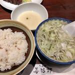 たんや 善治郎 - 麦飯とテールスープ