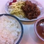 まつまる - しょうが焼きライス(850円)