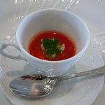 リストランテ ベリーニ - ☆フルーツトマトの冷製スープ仕立て☆