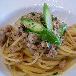 リストランテ ベリーニ - ☆地鶏のラグーとグリーンアスパラガスのスパゲティーニ☆