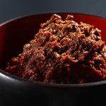 京都大原の味噌鍋専門店 雲井茶屋 - 味噌は姉妹店「味噌庵」のこだわり手作り味噌を使っています。