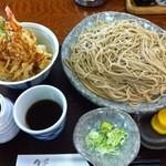 14221128 - ミニ天丼+ざるそばセット