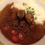 カレーハウス リオ - ひき肉と ナスとトマトのカレー 740円