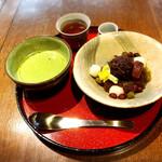 カフェ叶匠寿庵 - 抹茶とあんみつ
