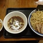 八ちゃんラーメン - 煮干しつけそば(大盛)&炙り肉丼