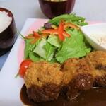 せいぶ農産発 焼肉DINING まるぎゅう - きたかみ牛メンチカツランチ