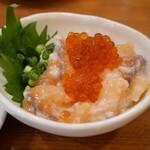 日本酒バル 富士屋 - サーモンの塩辛