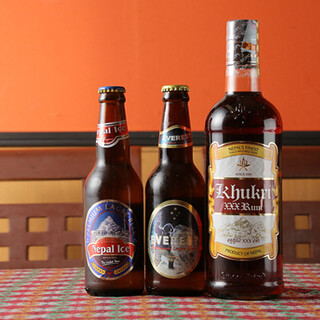 ネパールビールやネパールラムもおすすめです◎