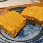 かぼちゃのたね - 断面、幾層もの玉子の層が圧巻