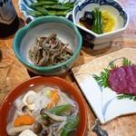 14226084 - 会津のこづゆ、山菜料理