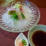 熱海荘 - 替り鉢:冷やししゃぶしゃぶ 牛肉 夏野菜色々 薬味 ポン酢