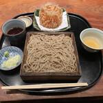 紗羅餐 - 桜海老かき揚げと十割そば