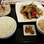 東蘭 - ホイコーロー定食¥850