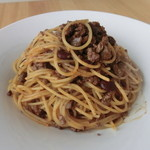 ビストロでるぴっぽ - 赤インゲン豆のボロネーススパゲティー