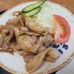 肉汁餃子のもりや - しょうが焼き2020.12.07