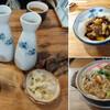 ゑがほ食堂 - 料理写真:あちゅかん二発、もだっこ、ナヴェ焼きどんうー。田舎温泉街食堂定番がこれだけ並べば、たくさんでしょう(ば