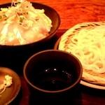 乃家 - 水曜ランチ かんぱち生姜ジュレ丼+冷やしうどん