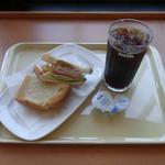 ドトールコーヒーショップ - 朝だけセットB コンソメジュレとチキンハムサラダ 380円