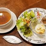 かまやカフェ・デュ・レヴァベール - 前菜とスープ