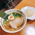 和風らーめん 金子 - 料理写真:Aセット 和風らーめん+半ちゃーはん 900円