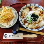 みやじま庵 - 料理写真:ひもかわ・かき揚げ