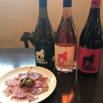 trentotto - 生ハムとハウスワイン(白赤のみ)