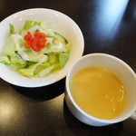 イタリアン ティーズ - 料理写真:サラダとスープ