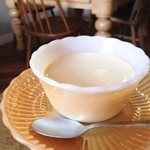 カフェ分福 - 花の香りプリン