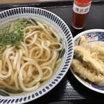 めん勝 - 料理写真:かけうどん=250円 ごぼう天=120円