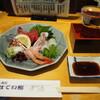 ほてい寿司 - 料理写真:お造り盛り合わせ & 冷酒(貴仙寿 純米吟醸 蔵元直送)