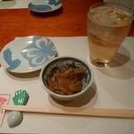 祇園 蕪屋 - 梅酒ソーダ、お通し