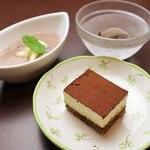 希味 - ・ほうじ茶シャーベット ・希味特製デザート2品