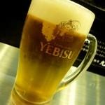麺屋 九秀 - 生ビール(エビス)