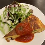 Bisutoroishikawatei - ★前菜 タコとブロッコリーのスパニッシュオムレツトマトソース サラダ添え