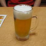 西安刀削麺 - 中生ビール
