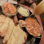 インドレストラン&バー マタ - ディナーセットのナンをチーズナンに変更