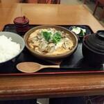 142343988 - 牡蠣の柳川風定食