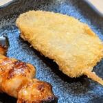 いろとり鶏 - 黒はんぺん串揚げ