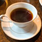 142362610 - 【2020年11月】サラダドリンクセット@300円、のコーヒー。