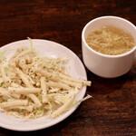 やっぱりステーキ - サラダとスープ