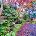 142365465 - 立派な門構えの玄関から入ると、まだまだ美しい紅葉が残るお庭に迎えられる。
