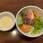 リゾート - サラダとスープ