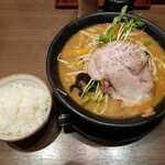 味噌の大将 - 味噌らーめん+半ライス2020.12.09