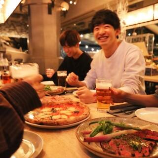 西東京最大級のレストランでカジュアルに飲み放題!