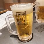 全力鶏 - 生ビール